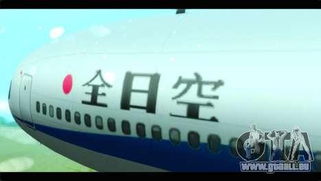 Lookheed L-1011 ANA für GTA San Andreas Rückansicht