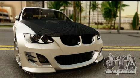 BMW M3 E90 Hamann pour GTA San Andreas sur la vue arrière gauche