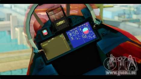 SU-35 Flanker-E Tekken pour GTA San Andreas vue arrière