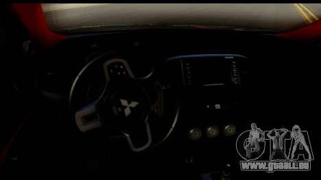 Mitsubishi Lancer Evolution X 2014 Itasha pour GTA San Andreas vue intérieure