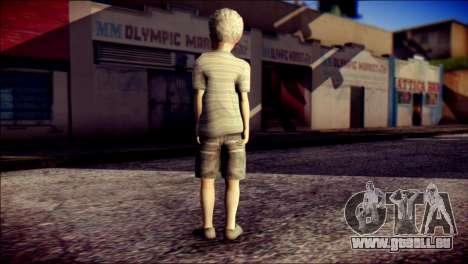 Dante Child Skin pour GTA San Andreas deuxième écran