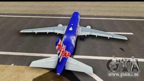 Airbus A320-200 AirAsia Queens Park Rangers pour GTA San Andreas vue intérieure
