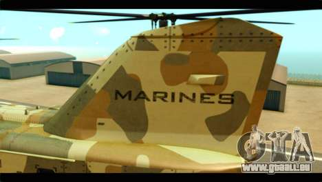 GTA 5 Cargobob pour GTA San Andreas vue arrière