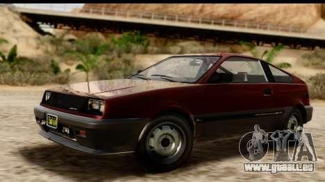 GTA 5 Dinka Blista Compact für GTA San Andreas