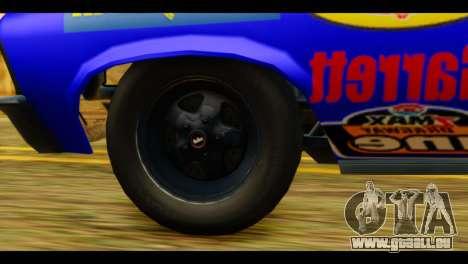Chevy Nova NOS DRAG pour GTA San Andreas sur la vue arrière gauche