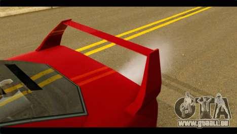 Turismo F40 pour GTA San Andreas vue de droite