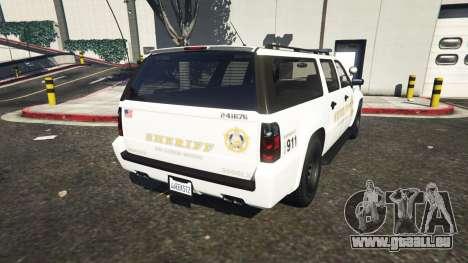 GTA 5 Declasse Sheriff SUV white arrière vue latérale gauche