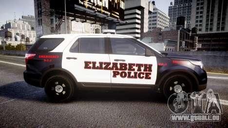 Ford Explorer 2011 Elizabeth Police [ELS] v2 für GTA 4 linke Ansicht