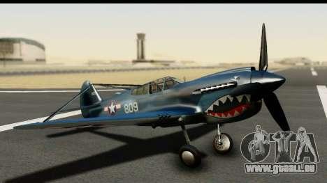 P-40E Kittyhawk US Navy pour GTA San Andreas