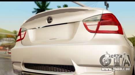 BMW M3 E90 Hamann pour GTA San Andreas vue de droite