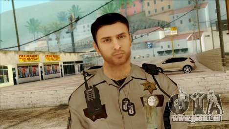 Depurty Alex Shepherd Skin pour GTA San Andreas troisième écran