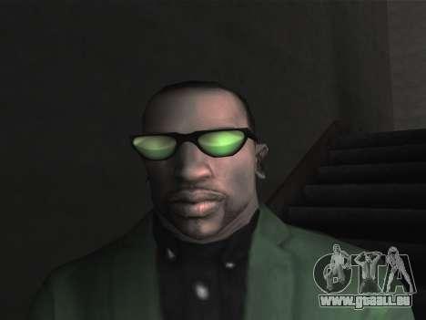 De nouvelles lunettes pour CJ pour GTA San Andreas troisième écran