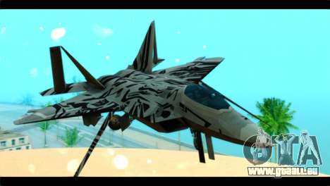 F-22 Raptor Starscream für GTA San Andreas Rückansicht