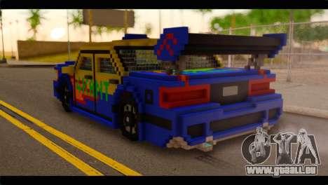 Minecraft Elegant pour GTA San Andreas laissé vue