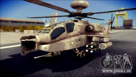 AH64 Apache MOHW für GTA San Andreas
