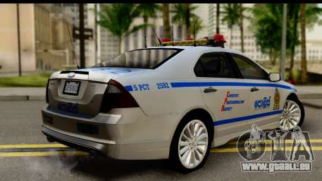 Ford Fusion 2011 Sri Lanka Police pour GTA San Andreas laissé vue