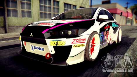 Mitsubishi Lancer Evolution X Juuzo Itasha für GTA San Andreas