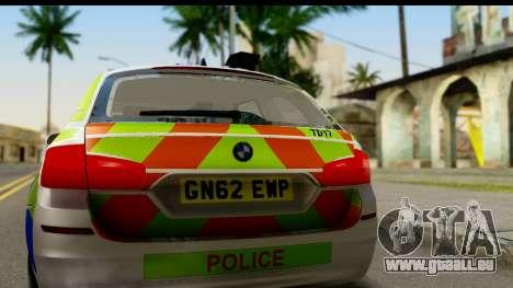BMW 530d Kent Police RPU pour GTA San Andreas vue de droite