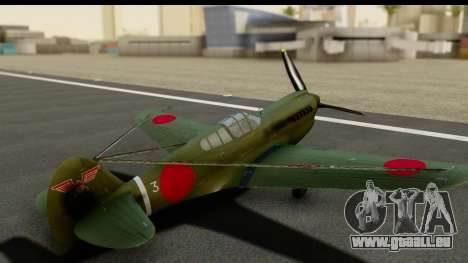 P-40E Kittyhawk IJAAF pour GTA San Andreas vue intérieure