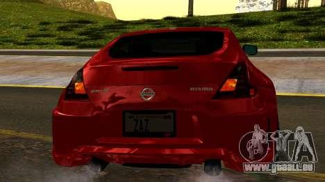 Nissan 370Z Nismo 2010 pour GTA San Andreas vue de côté