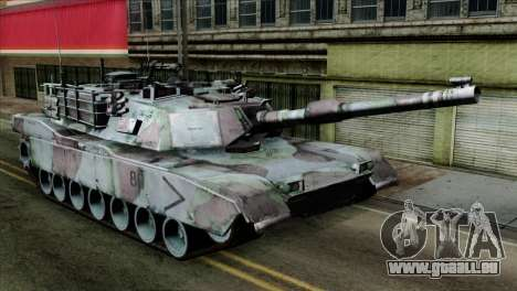 M1A2 Abrams Woodland Blue Camo für GTA San Andreas