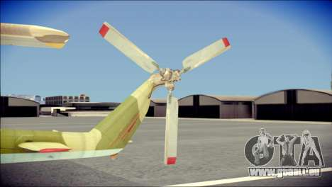 Mi-8 Hip pour GTA San Andreas sur la vue arrière gauche
