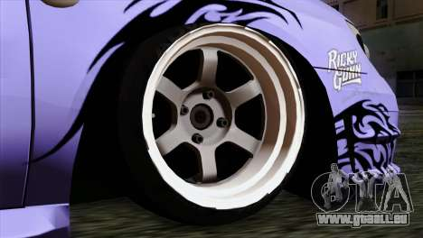 Subaru Impreza WRX STI 5pb Itasha pour GTA San Andreas sur la vue arrière gauche