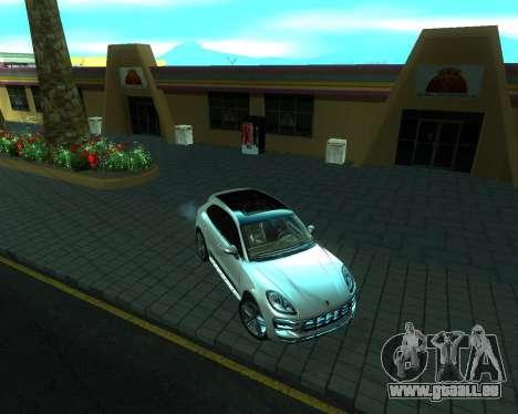Porsche Macan Turbo pour GTA San Andreas sur la vue arrière gauche