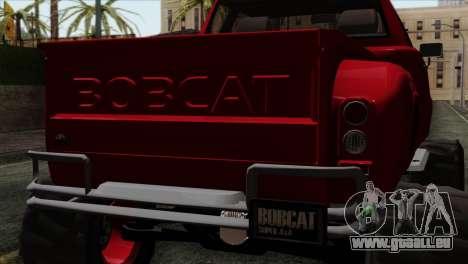 Bobcat Fx4 pour GTA San Andreas vue arrière
