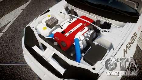 Nissan Skyline R34 GT-R Mines pour GTA 4 est une vue de l'intérieur