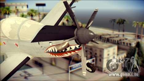 EMB 314 Super Tucano Colombian Air Force pour GTA San Andreas vue arrière