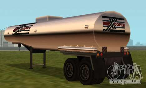 PS2 Petrol Trailer pour GTA San Andreas vue de droite