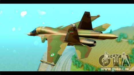 Sukhoi SU-34 IRIAF für GTA San Andreas linke Ansicht