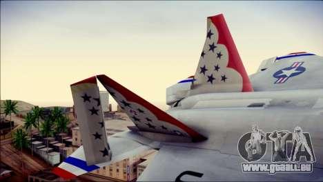 F-22 Raptor Thunderbirds pour GTA San Andreas sur la vue arrière gauche