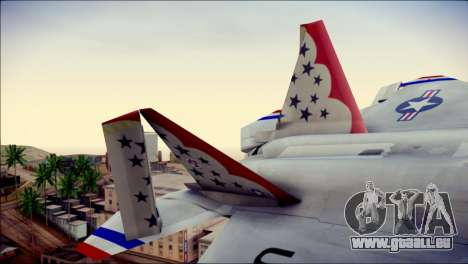 F-22 Raptor Thunderbirds für GTA San Andreas zurück linke Ansicht