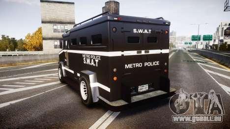 GTA V Brute Police Riot [ELS] skin 5 pour GTA 4 Vue arrière de la gauche