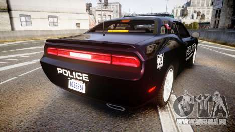 Dodge Challenger SRT8 Police [ELS] pour GTA 4 Vue arrière de la gauche