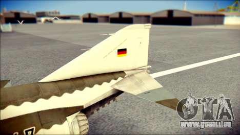 McDonnell Douglas F-4F Luftwaffe pour GTA San Andreas sur la vue arrière gauche