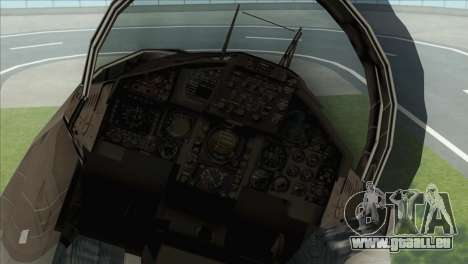 McDonnell Douglas F-15D Philippine Air Force pour GTA San Andreas vue arrière