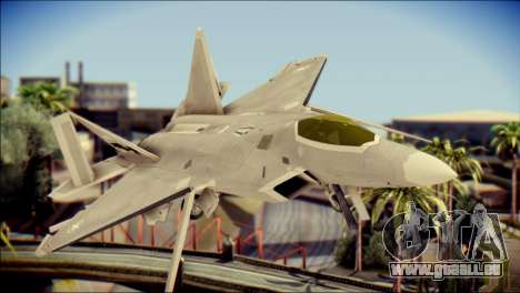 F-22 Gryphus, Falco and Antares pour GTA San Andreas vue arrière