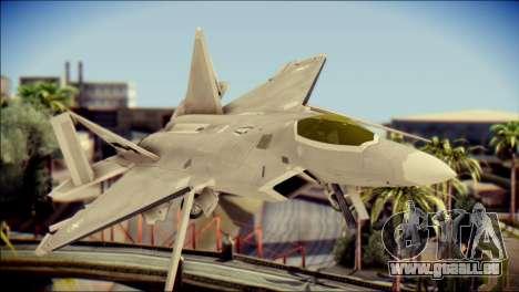 F-22 Gryphus, Falco and Antares für GTA San Andreas Rückansicht