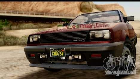 GTA 5 Dinka Blista Compact für GTA San Andreas zurück linke Ansicht