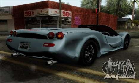 Mitsuoka Orochi Nude Top Roadster für GTA San Andreas linke Ansicht