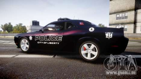 Dodge Challenger SRT8 Police [ELS] pour GTA 4 est une gauche