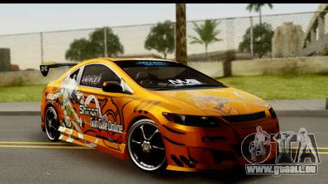 Honda Civic SI Juiced Tuned Shinon Itasha pour GTA San Andreas