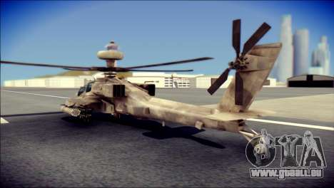 AH64 Apache MOHW für GTA San Andreas linke Ansicht