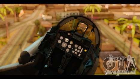 MIG-29 Fulcrum für GTA San Andreas Rückansicht