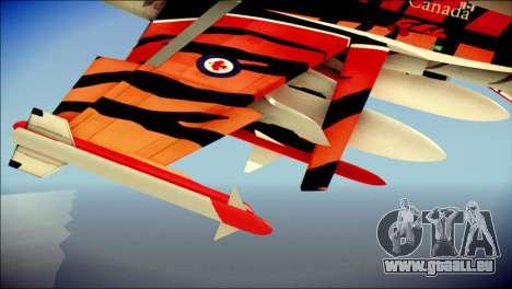 FA-18D Hornet RCAF Tigermeet für GTA San Andreas rechten Ansicht