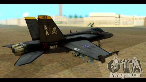 FA-18 Jolly Roger Black für GTA San Andreas linke Ansicht