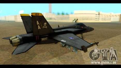 FA-18 Jolly Roger Black pour GTA San Andreas laissé vue